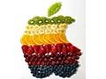 Apple-logo gemaakt van fruit