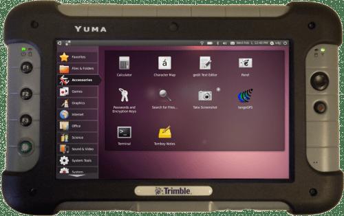 Trimble Yuma-tablet van SDG Systems