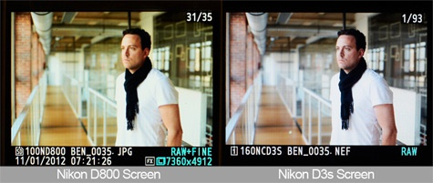 Nikon D800 lcd groene waas