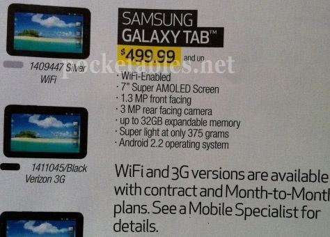 Samsung Galaxy Tab wifi-only