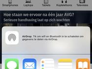 iOS 12: Deel-menu
