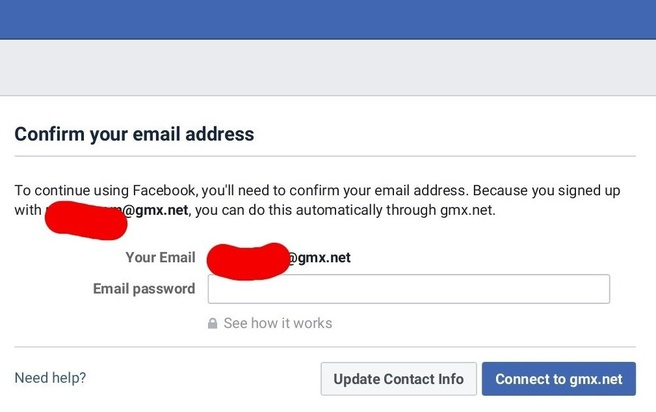 Facebook wachtwoord e-mail
