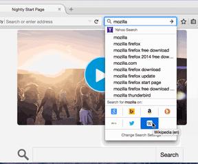 Firefox zoeken