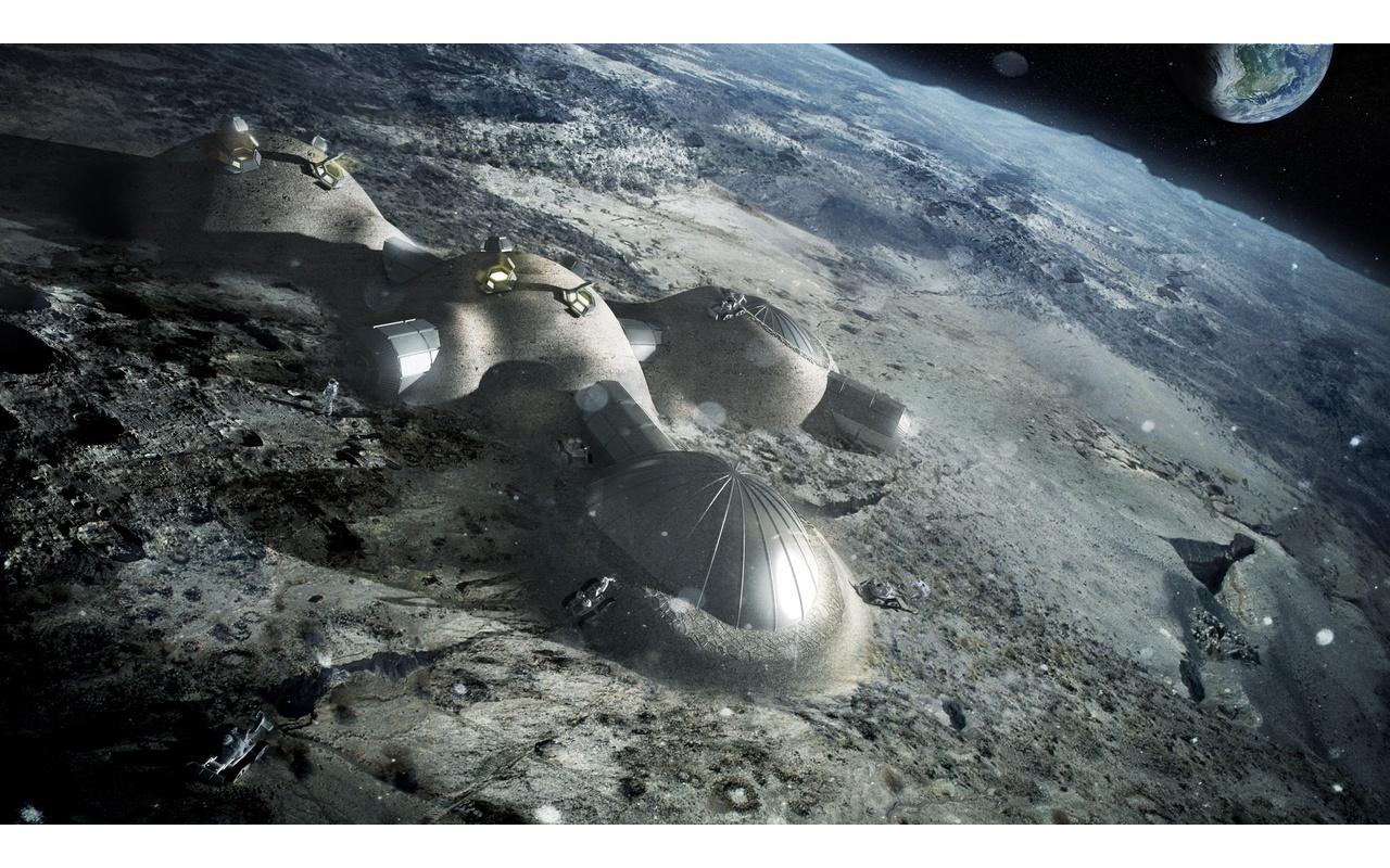 3d-geprinte maanbasis
