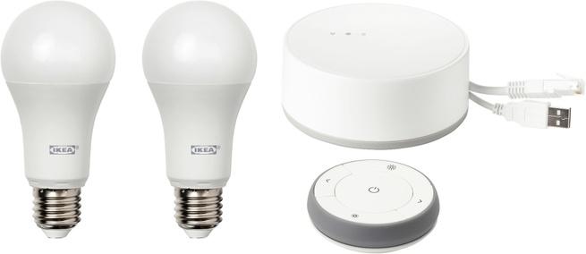Ikea Set van 2 lampen met verbindingshub
