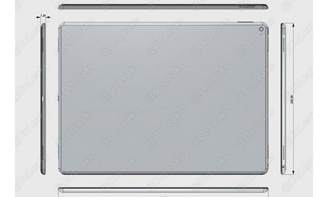 Mogelijke iPad Pro renders