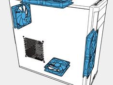 Inbouwruimte 120 mm ventilatoren