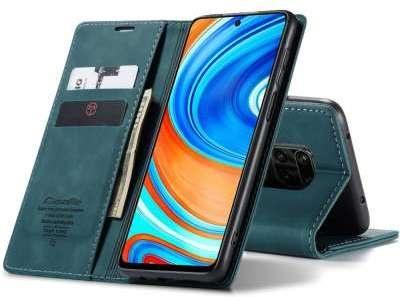 Caseme Xiaomi Redmi Note 9S / 9 Pro Retro Wallet Case - Blauw