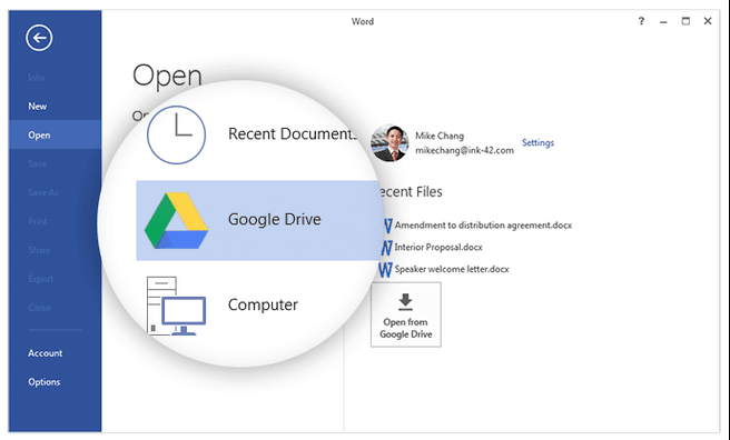 Drive-plugin voor Office