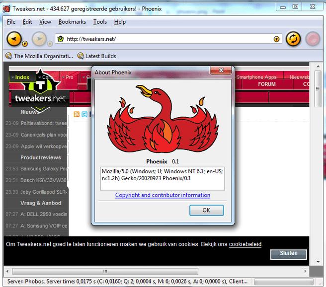 Phoenix 0.1 (Firefox)