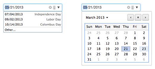 Google Chrome 27 datepicker