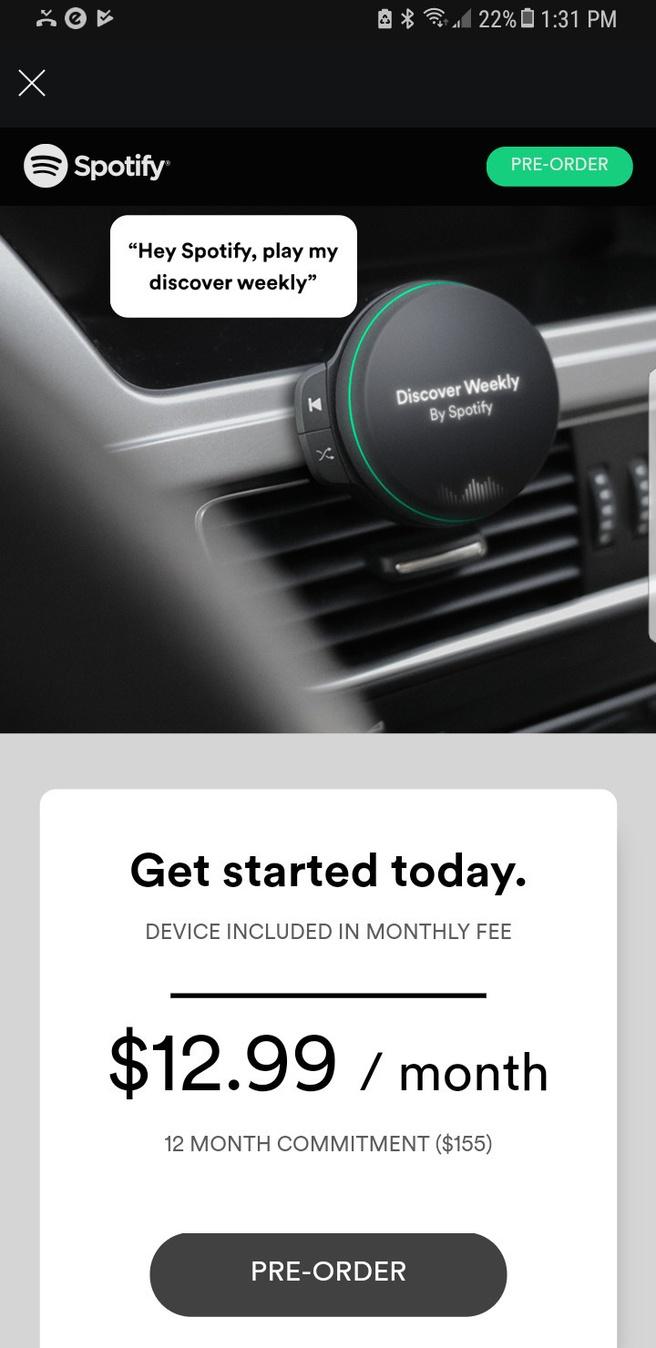 Advertentie Spotify-hardware
