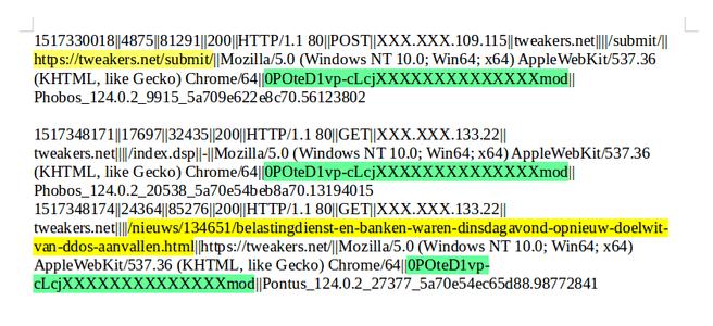 ddos access logs