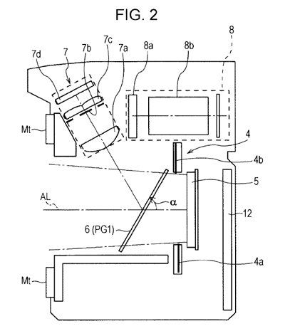 Sony patent pellicle mirror