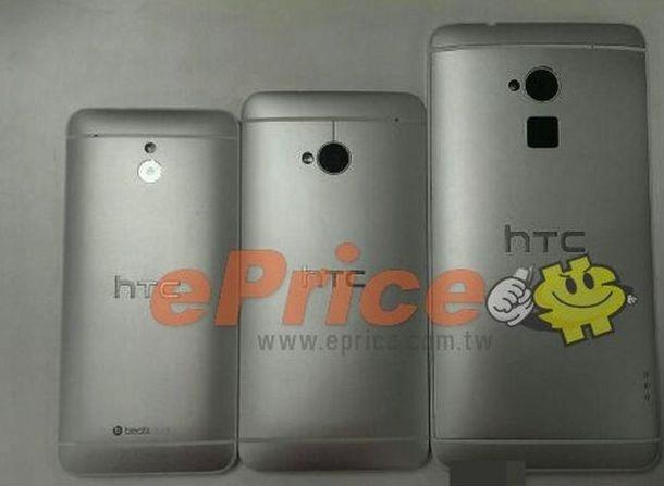 HTC One mini, One en One Max