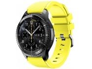 Goedkoopste qMust Sport armband voor Samsung Gear S3 Classic / Frontier - geel