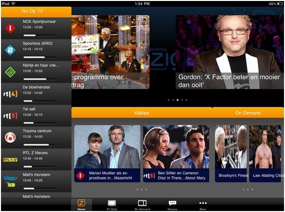 iPad-app van Ziggo
