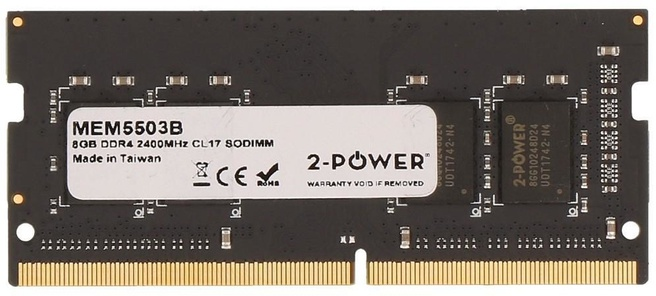 2-Power 8GB DDR4 2400MHz CL17 SODIMM Memory - replaces 01FR301
