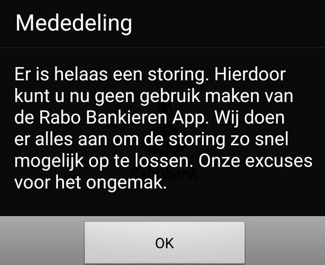 Rabobank storing