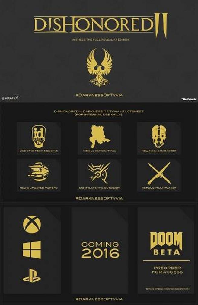 Uitgelekte slide Dishonored II: Darkness of Tyvia