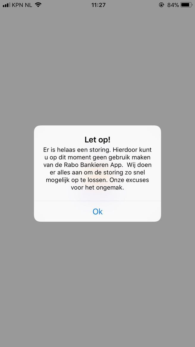 Rabobank app storing 03-12-17