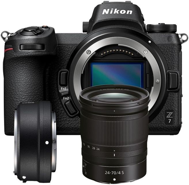 Nikon Z7 + 24-70mm f/4 S + FTZ adapter Zwart