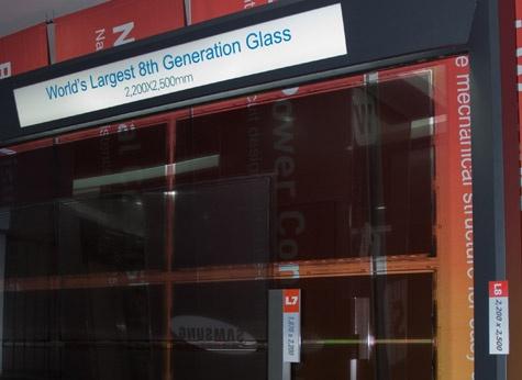 Samsung 8th gen glassubstraat