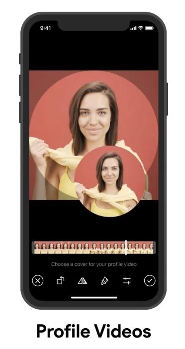 Telegram-profiel met video