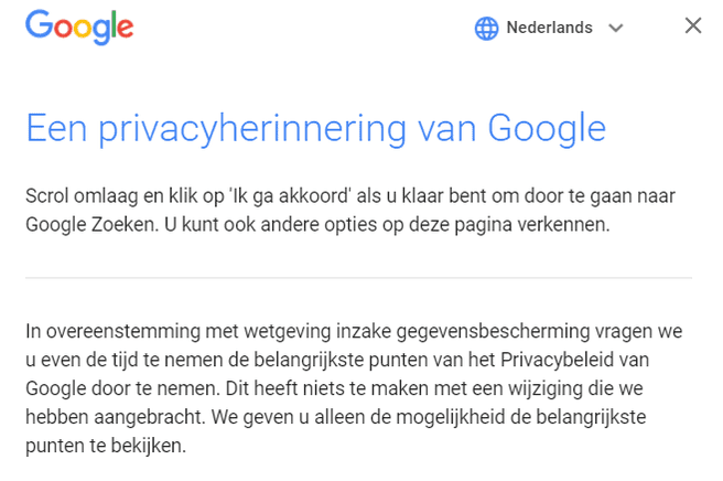 privacyherinnering google