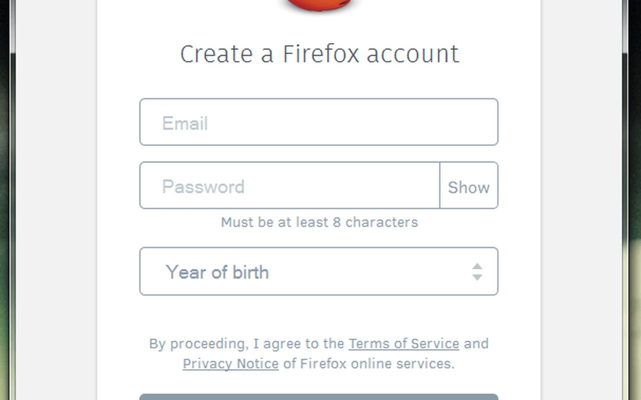 Firefox Sync Nightly screenshots