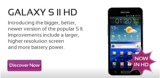 Samsung Galaxy S II HD bij Mobi-City