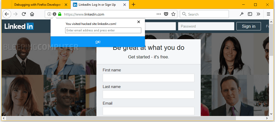 Firefox hibp
