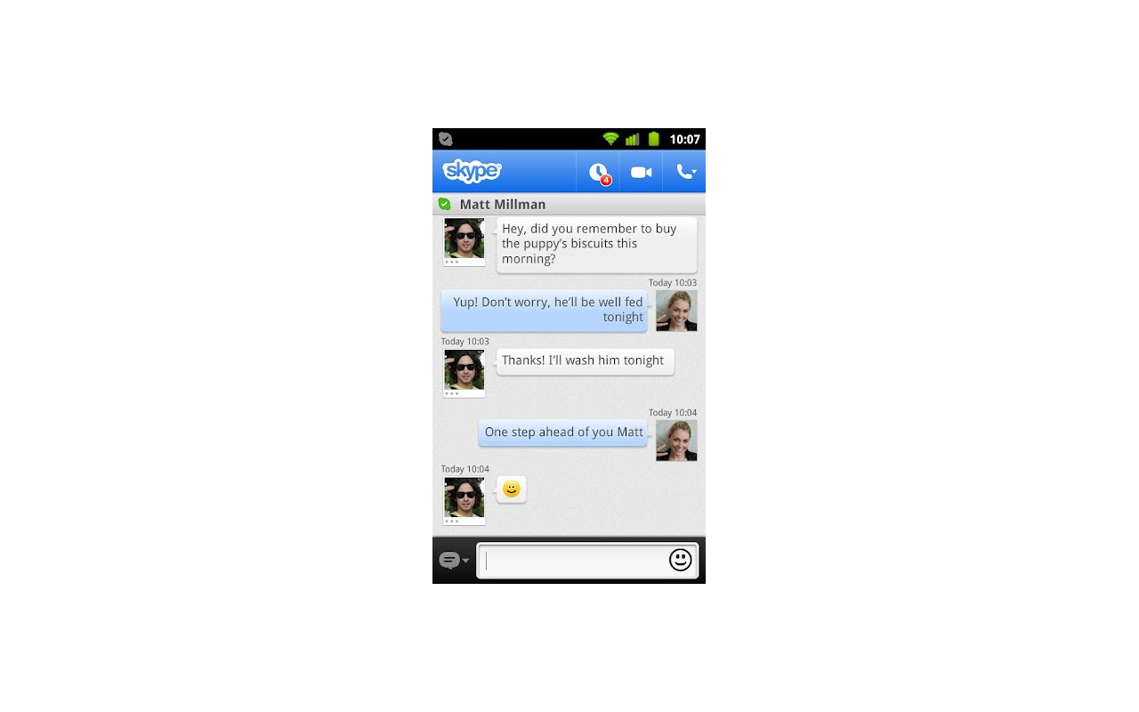 Skype for Android screenshot