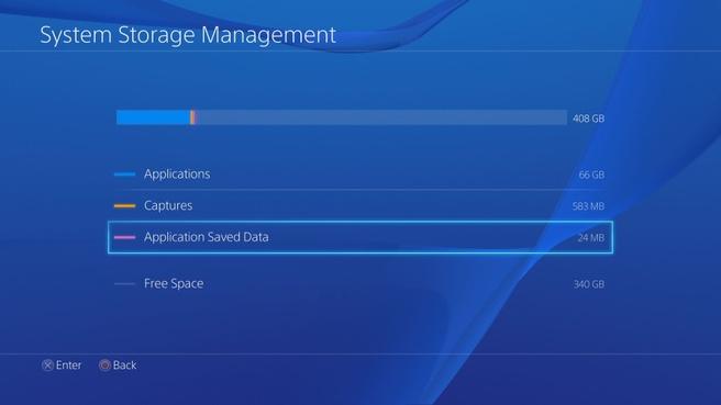 Opslagcapaciteit PlayStation 4