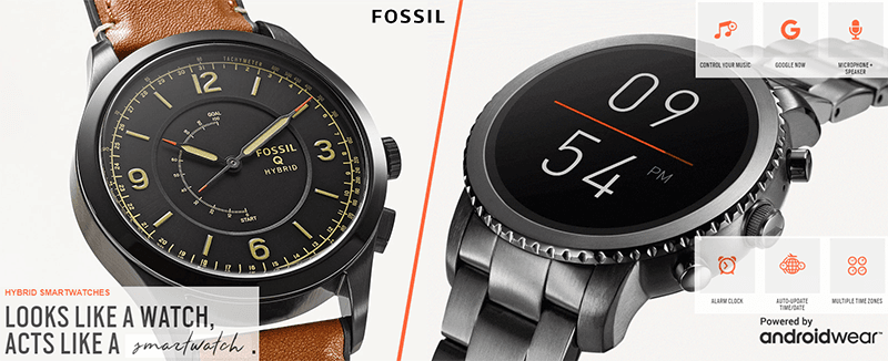 Fossil (hybrid) smartwatches 2017