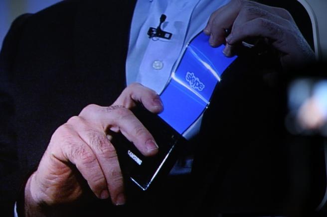 Samsung-telefoon met buigbaar scherm