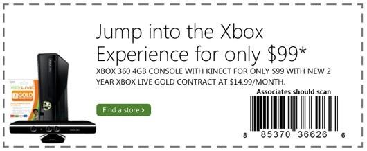 Xbox 360 voor 99 dollar