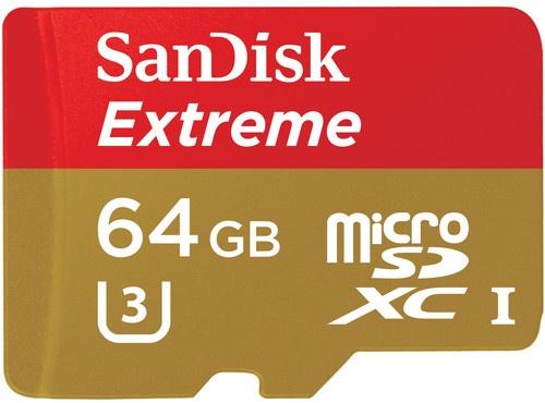 Sandisk 64GB Extreme microSDXC U3/Class 10