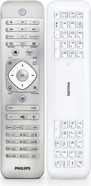 Philips 2012 tv-remote met qwerty toetsenbord