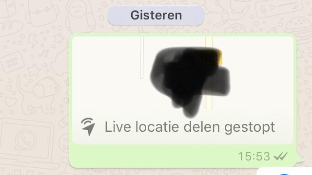 WhatsApp Live Location verzender iOS