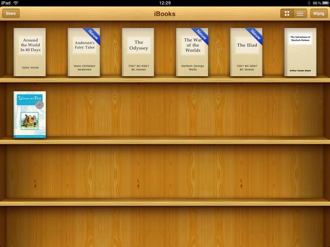 E-books op iPad