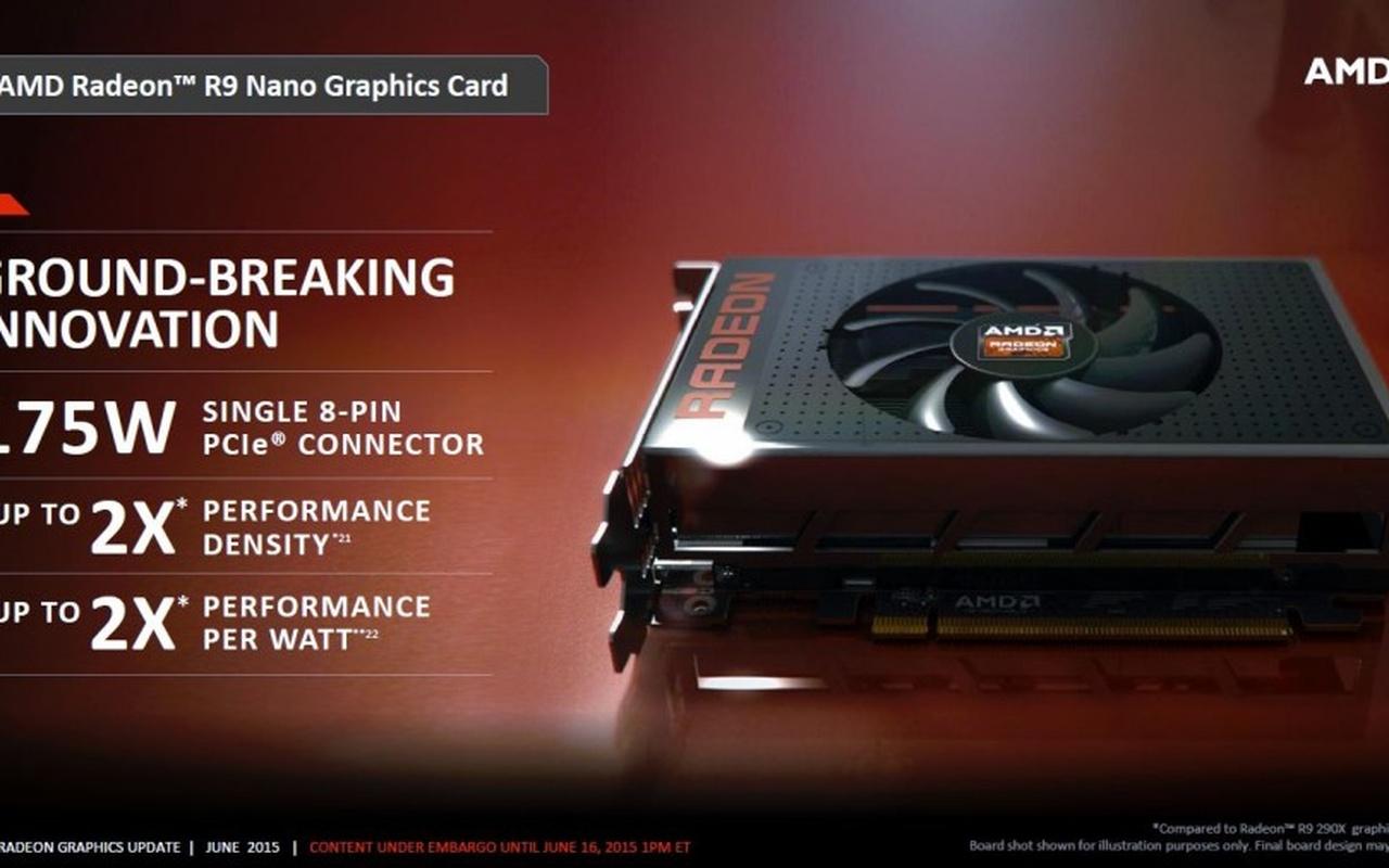 AMD Radeon R9 Nano slides