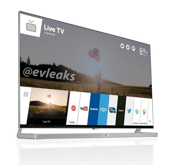 LG WebOS-tv (bron: EVLeaks)