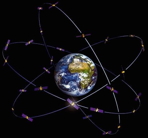 Galileo-satellieten rond de aarde