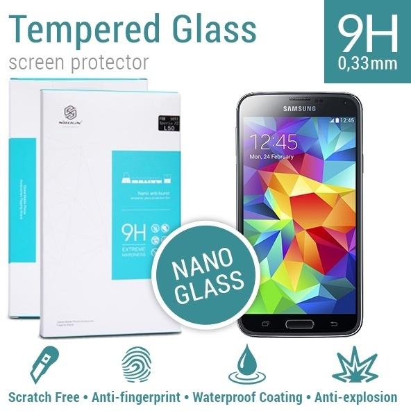 Nillkin Screen Protector Tempered Glass 9H Nano Samsung Galaxy S5