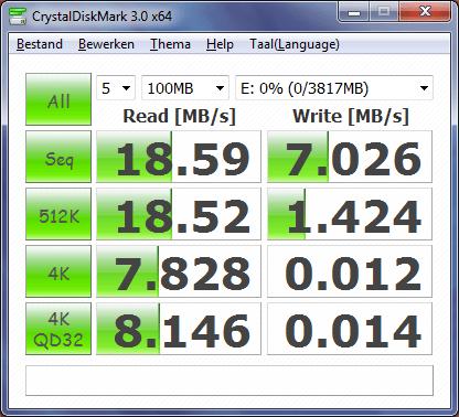 SuperTalent 4GB Pico-C - Crystal disk mark