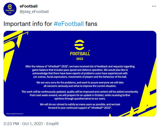 Scusa eFootball Konami