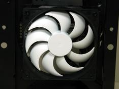 Voorzijde kast detail ventilator
