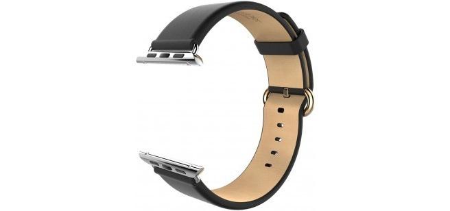 hoco Luxe Classic Lederen Watchband Apple Watch (42mm) - Black