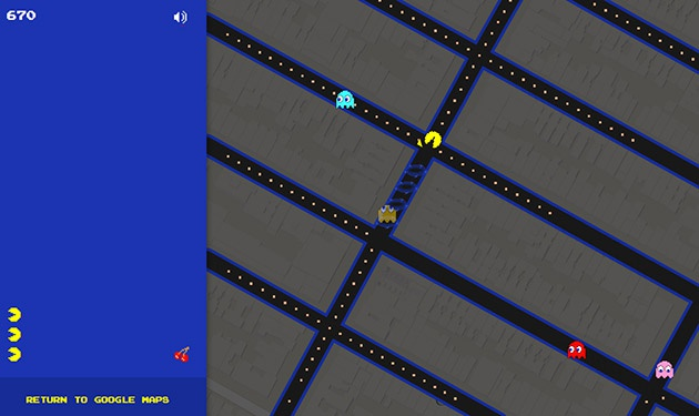 Google Maps Pac-Man